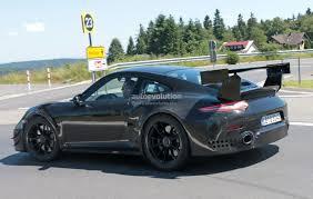 porsche new model new porsche 911 gt2 gt2 rs spied with racecar aero expect
