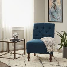 Tufted Slipper Chair Sale Design Ideas Lola Navy Tufted Armless Slipper Chair Free Shipping Today