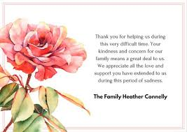 thank you for sympathy card sympathy thank you notes funeral thank you sentiments thanks