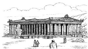 temple coloring page big roman temple worldwonders coloring pages batch coloring