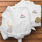 His And Hers Items His Embroidered Velour Spa Robe His And Hers Design Wedding Gifts