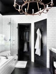 black tile bathroom ideas timeless black and white master bathroom makeover hgtv