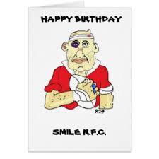 funny rugby birthday cards greeting u0026 photo cards zazzle