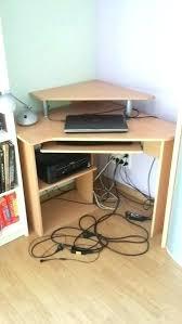 bureau ordinateur d angle bureau d ordinateur d angle bureau d 39 angle en ch taignier bois