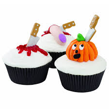 How To Decorate A Cake For Halloween Wilton Halloween Knife Cupcake Icing Decorations The Green Head