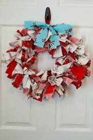 16 best fabric strip wreaths images on pinterest fabric strips