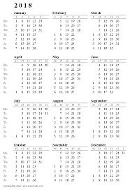 printable weekly calendar for 2018 2018 calendar week numbers daway dabrowa co