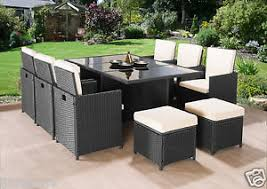 outdoor patio table seats 10 cube rattan garden furniture set chairs sofa table outdoor patio