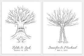 tree guest book thumbprint wedding guestbook posters