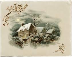 printable horse christmas cards winter scene victorian card free download old design shop blog