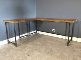 Diy L Desk Modest Industrial Diy L Shaped Desk On Light Brown Tile Floor Jpg