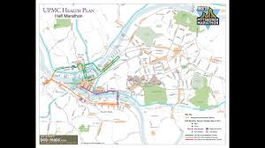 Pittsburgh Pa Zip Code Map by Pittsburgh Marathon Sunday Routes Road Closures Guidelines