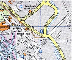 road map of york york city map