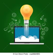idea startup technology launching take off education bright vector