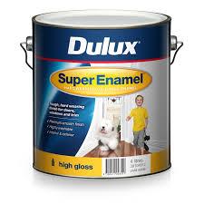 dulux super enamel 4l high gloss vivid white enamel paint