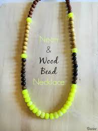 necklace beads diy images Diy wooden necklace with neon bead accents darice jpg