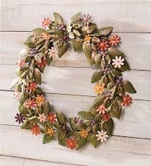 handmade recycled metal floral wreath wreaths