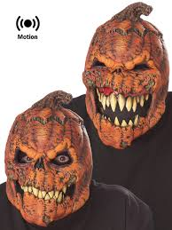 pumpkin mask adults motion mask mens reaper wolf clown pumpkin