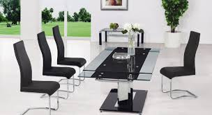 Glass Extendable Dining Table And 6 Chairs Awesome Cool Extending Glass Dining Table And Chairs Set Pics Of
