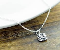 rose flower necklace images Sterling silver rose necklace rose flower necklace sterling jpg