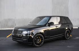 jeep range rover black customized range rover exclusive motoring miami fl