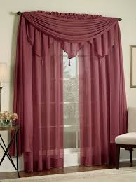 reverie semi sheer snow voile curtains u2013 burgundy u2013 lorraine