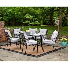 Mayfield Patio Furniture by Hanover Lavallette 7 Piece Outdoor Dining Set Walmart Com
