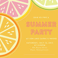 tropical summer party invitation wording ideas features party