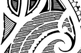 traditional maori style tattoo stencil