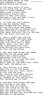song lyrics for in the merry month of june with pdf