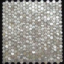 hexagon white mother of pearl mosaic tile seashell bathroom