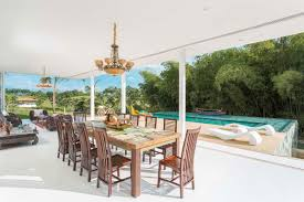 dining table open plan living pool terrace family home in