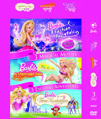 reliance videos barbie 3 magical movies fashion fairytale