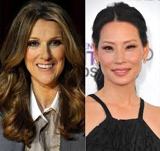 celine dion vs lucy liu photos can you believe these stars
