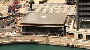 apple store likely to go without rooftop logo chicago tribune