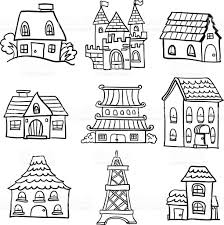 Types Of Houses Pictures Different Types Of Houses In Black And White Stock Vector Art