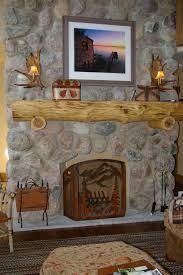 fireplace stone wall home decor