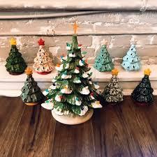 vintage ceramic christmas tree oct 6 vintage christmas tree painting party