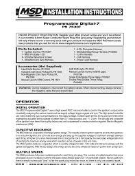 msd programmable digital shift light msd 7530t programmable digital 7 ignition control installation user