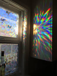 amazon com decorative window film holographic prismatic etched