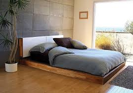 How To Make Wood Platform Bed Frame by Bedrooms Awesome Bedroom With Patterned Bed On Diy Wood Platform