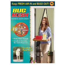 Magnetic Fly Screen For French Doors by Bug Mesh Magnetic Door Screen Big W