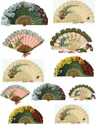 held fans free printable collage sheets original tissue decoupage paper