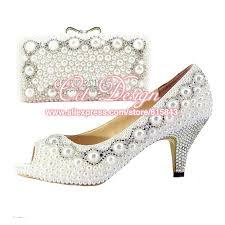 wedding shoes and bags new customized handmade women shoes flats silver crystals and