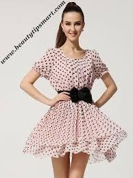 polka dot designer cocktail dress designs 2017 with sleeves