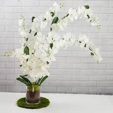 orchid bouquet white hanging orchid bouquet realistic multi flower wedding silk
