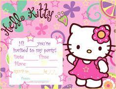 Border Designs For Birthday Cards Wonderful Hello Kitty Birthday Invitation Card 58 With Additional