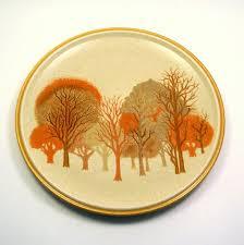 mikasa walnut grove vintage 1960s fall tree dinner plates mikasa
