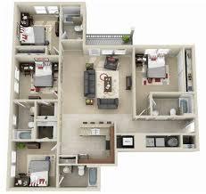4 bedroom floor plan gainesville apartment floor plans lyncourt square