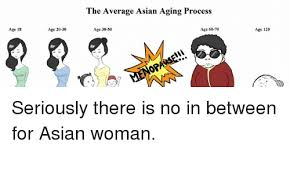 Asian Lady Aging Meme - age 18 age 20 30 the average asian aging process age 60 70 age 30 50